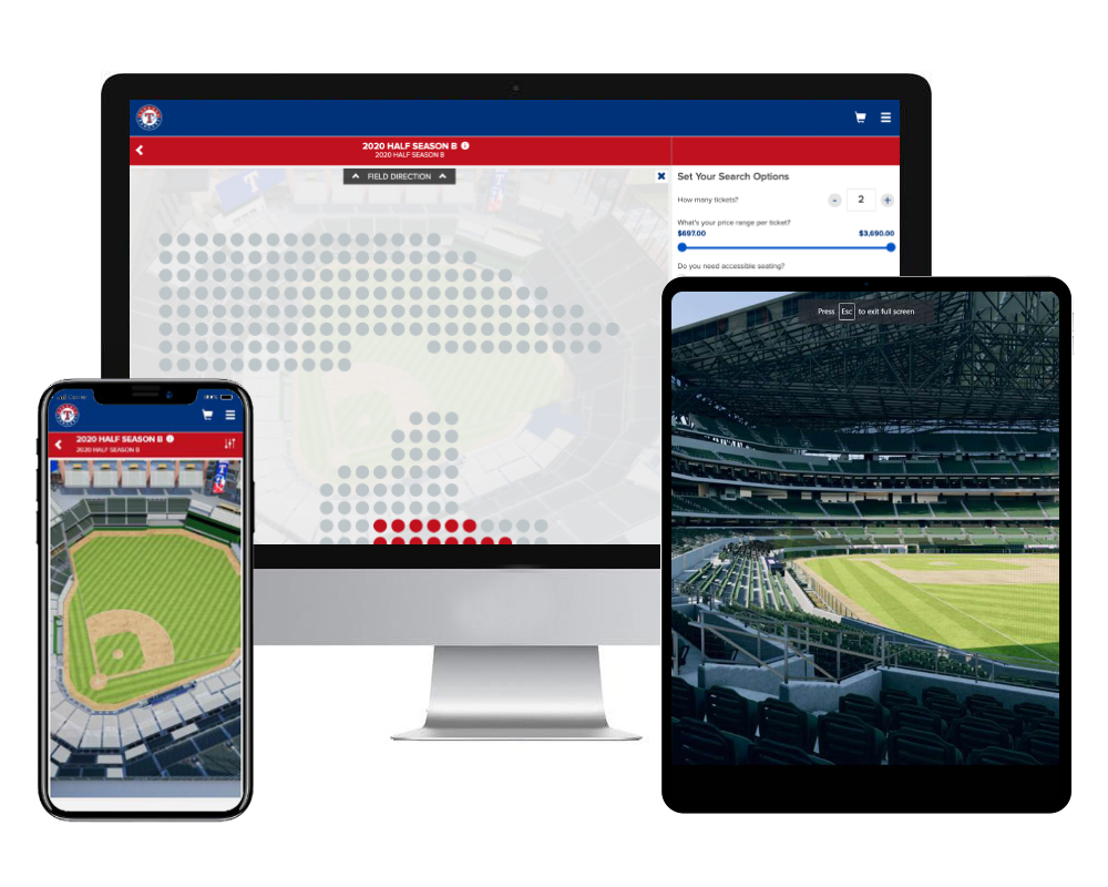 Tickets.com® And 3D Digital Venue Bring '3D View From Seat' To Globe Life Field