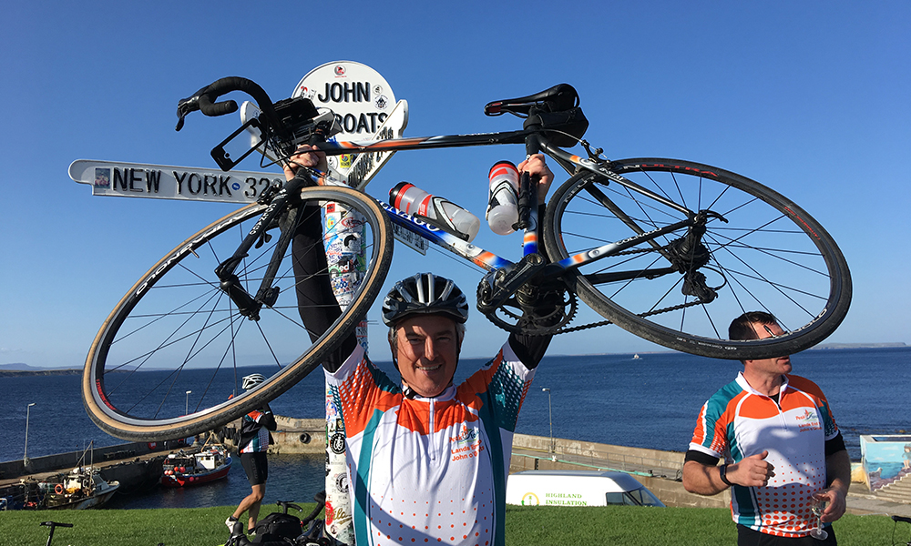 Richard Baldwin Completes Land's End To John O'Groats Cycle Challenge