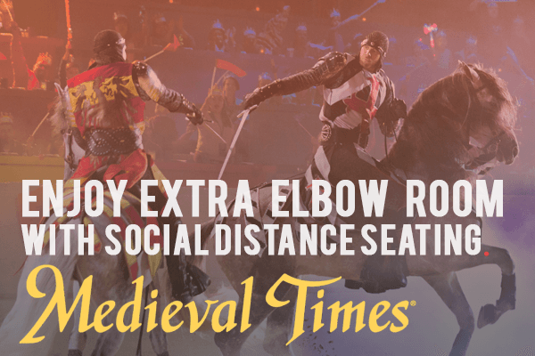 Suiting Up For Social Distance Seating: Medieval Times Returns