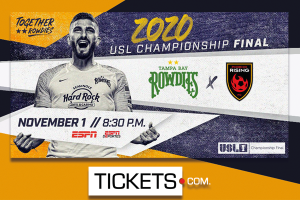 Tampa Bay Rowdies Host The 2020 USL Championship Final Powered By Tickets.com